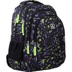 Рюкзак молодежный, GoPack 162, 44x32x18 см, эргономичная спинка, Crazy