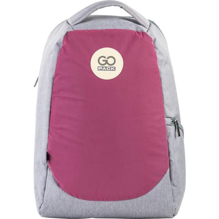 Рюкзак молодежный, GoPack 169, 43x28x10 см, эргономичная спинка, розовый - фото 855751