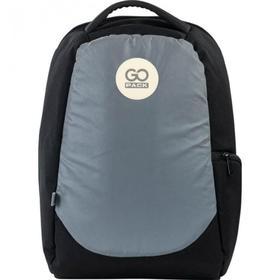 Рюкзак молодежный, GoPack 169, 43x28x10 см, эргономичная спинка, чёрный/серый