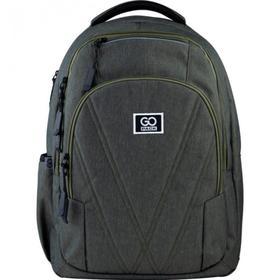 Рюкзак молодежный, GoPack 171, 45.5x32x12.5 см, эргономичная спинка, зелёный