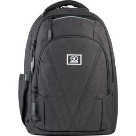 Рюкзак молодежный, GoPack 171, 45.5x32x12.5 см, эргономичная спинка, чёрный
