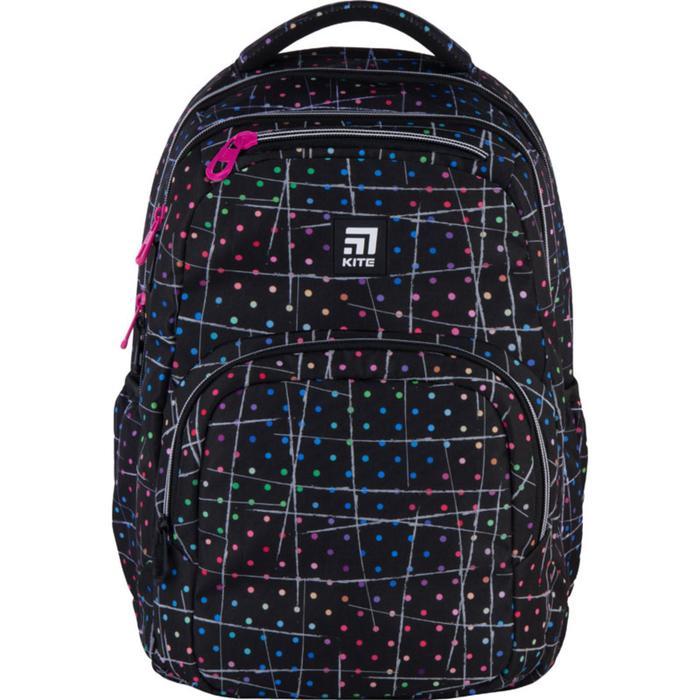 Рюкзак молодёжный, Kite 903, 44 х 31.5 х 14 см, эргономичная спинка, чёрный - фото 855804