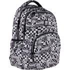 Рюкзак молодёжный, Kite 903, 44 х 31.5 х 14 см, эргономичная спинка, чёрный/белый - фото 855813