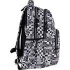 Рюкзак молодёжный, Kite 903, 44 х 31.5 х 14 см, эргономичная спинка, чёрный/белый - фото 855816