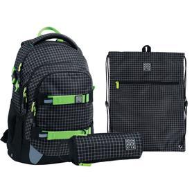Рюкзак школьный, Kite 727, 42 х 29 х 20 см, эргономичная спинка, с наполнением: мешок для обуви, пенал, Checkered