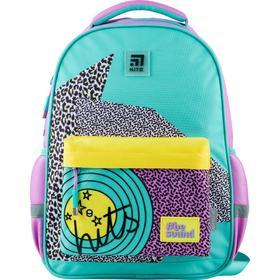 Рюкзак школьный, Kite 831, 40 х 29 х 11.5 см, эргономичная спинка, бирюзовый/сиреневый