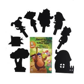 Настольная игра «Театр теней. Истории Гарри: набор фигурок Маша и Медведь»