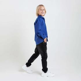Сорочка для мальчика Imperator, цвет тёмно-синий, рост 122-128 см