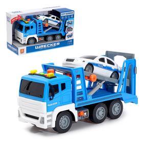 Машина инерционная «Эвакуатор» с машинкой, 1:12, световые и звуковые эффекты