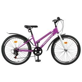 """Велосипед 24"""" Progress Ingrid low, цвет фиолетовый/белый, размер 13"""""""