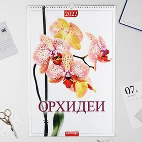 "Календарь перекидной на ригеле ""Орхидеи"" 2022 год, 320х480 мм"