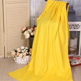 Плед 100х150 см, жёлтый