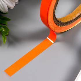"""Клейкая лента пластик флуоресцентная светящаяся """"Оранжевый"""" ширина 1 см намотка 5 м"""