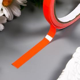 """Клейкая лента пластик флуоресцентная светящаяся """"Красный"""" ширина 1 см намотка 5 м"""