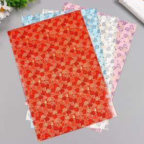 Color-aligned cardboard with embossed (set 4 sheets) 4 CV