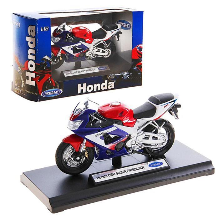 Модель мотоцикла Honda CBR900RR Fireblade, масштаб 1:18 - фото 105654908