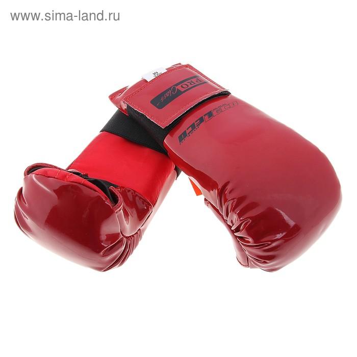 Перчатки спарринговые, размер М, цвет красный
