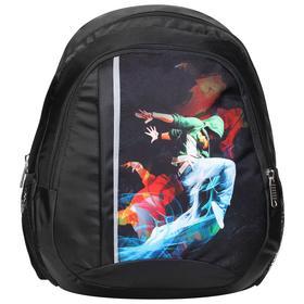 Рюкзак для гимнастики, ткань п/э, 36 х 28 х 13 см, цвет чёрный, 214-014