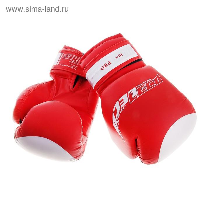 Перчатки боксерские, 10 унций, цвет красный