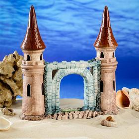 """Декорация для аквариума """"Башни с аркой"""", 28 см, микс"""