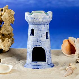 "Декорация для аквариума ""Башня одинарная"", 15 см, микс"
