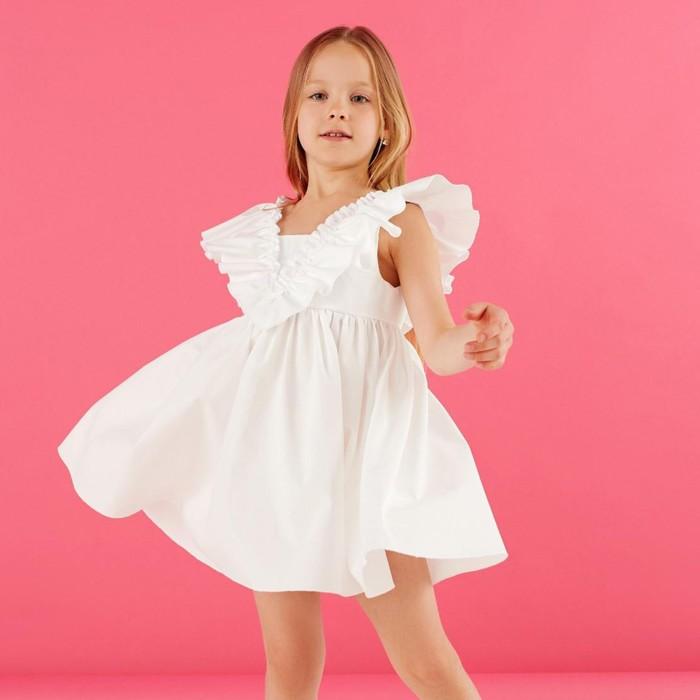 Платье детское KAFTAN «Бабочка», р. 30 (98-104), белый - фото 1092233