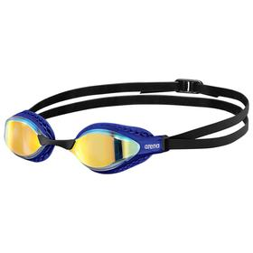 Очки для плавания ARENA Airspeed Mirror, зеркальные линзы, сменная переносица, синяя оправа