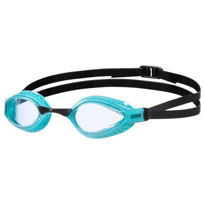 Очки для плавания ARENA Airspeed, прозрачные линзы, сменная переносица, бирюзовая оправа - фото 857656