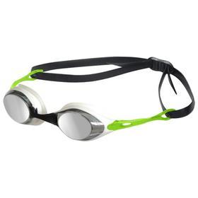 Очки для плавания ARENA Cobra Mirror, зеркальные цветные линзы, сменная переносица, белая оправа