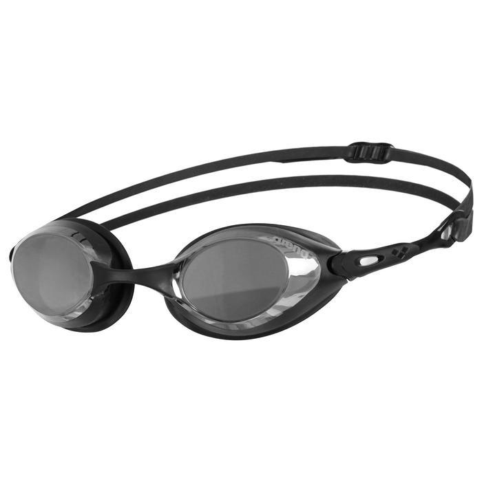 Очки для плавания ARENA Cobra Mirror, зеркальные линзы, сменная переносица, чёрная оправа - фото 857659