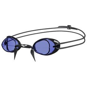 Очки для плавания ARENA Swedix, синие линзы, регулируемая переносица, чёрная оправа