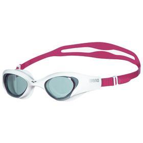 Очки для плавания ARENA The One Woman, дымчатые линзы, нерегулируемая переносица, белая оправа