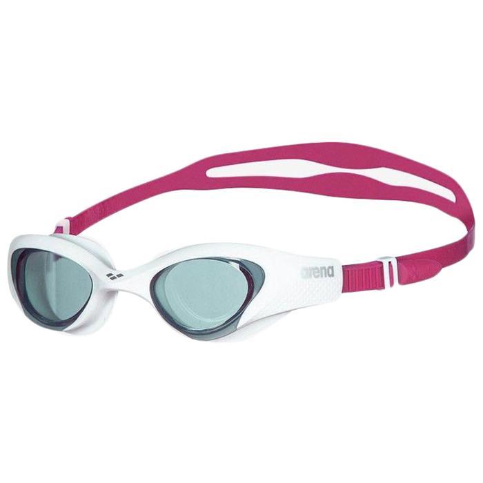 Очки для плавания ARENA The One Woman, дымчатые линзы, нерегулируемая переносица, белая оправа - фото 857668