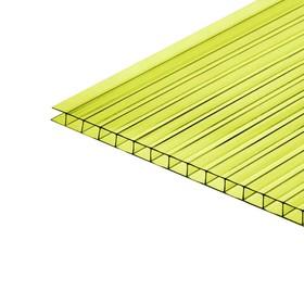 Сотовый поликарбонат, 4 мм, 2,1 × 6 м, УФ, бирюза