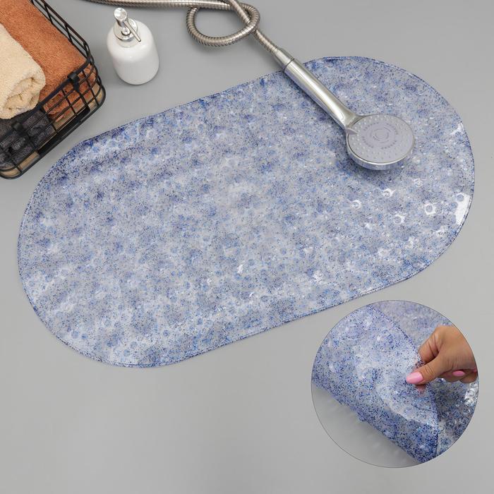 Коврик для ванны Доляна «Пузырьки блестящие», 35×67 см, цвет МИКС