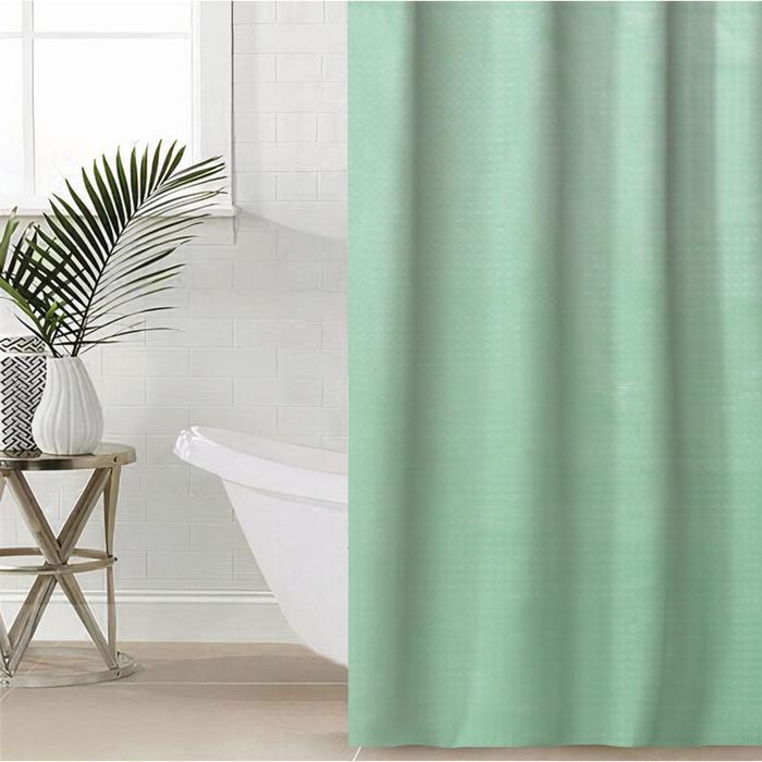 Штора для ванной комнаты 3D «Графика», 180×180 см, EVA, цвет зелёный
