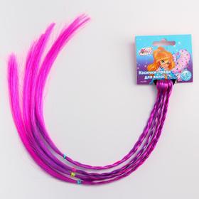 Косички для волос на резинке, фиолетовый, WINX