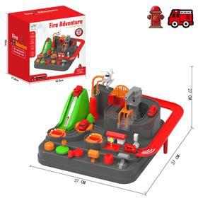 Настольная игра-лабиринт «Пожарная станция», 3 машинки