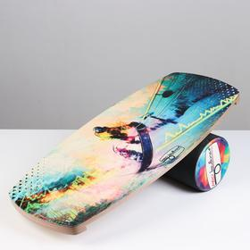"Доска балансировочная балансборд ""Snowboard"" 76 х 35 х 1,5 см, диаметр валика 16 см"