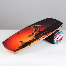"""Доска балансировочная балансборд """"Wake Jib"""" 76 х 35 х 1,5 см, диаметр валика 16 см"""