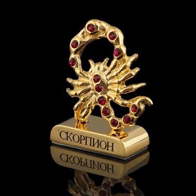 Сувенир знак зодиака «Скорпион», 5×2×5 см, с кристаллами Сваровски
