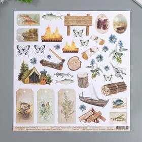 """Лист для вырезания Craft Paper """"Хочу в поход"""" 30,5х30,5 см, 190 гр/м2"""