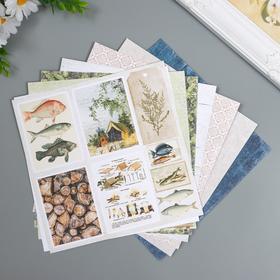 """Набор бумаги для скрапбукинга Craft Paper """"Хочу в поход"""" 20х20 см, 8 листов"""