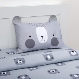 Постельное белье «Этель» 1,5 сп Gray bear 143х215 см, 150х214 см, 50х70 см -1 шт