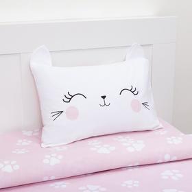 Постельное белье Этель 1,5 сп Pink cat 143х215 см, 150х214 см, 50х70 см -1 шт, 100% хл, бязь