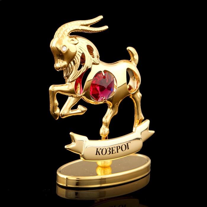 Сувенир «Знак зодиака Козерог», 7×2,3×9 см, с кристаллом Сваровски