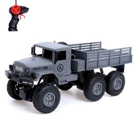 A truck radio-controlled