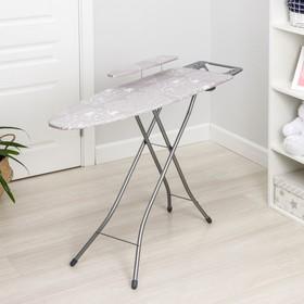 Доска гладильная Nika «Белль Классик 3», 112×34,5 см, два положения высоты 70, 80 см, европодставка МИКС