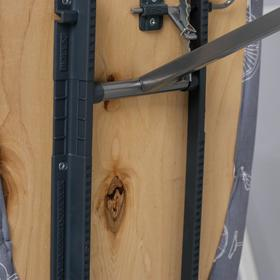 """Доска гладильная 1225х380 """"Ника 4+"""" фанера, регулируемая высота до 82 см, подставка МИКС - фото 4636166"""