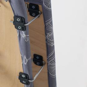 """Доска гладильная 1225х380 """"Ника 4+"""" фанера, регулируемая высота до 82 см, подставка МИКС - фото 4636167"""